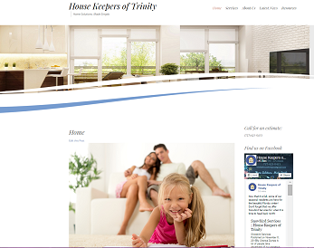 House Keepers of Trinity main page screenshot