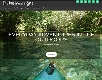 The Wilderness Girl main page screenshot